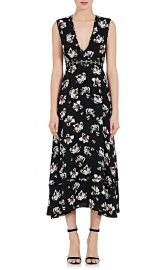 Cutout-Waist Floral Sleeveless Dress at Barneys Warehouse