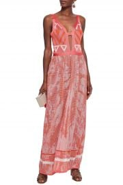 Cutout crochet-knit maxi dress at The Outnet
