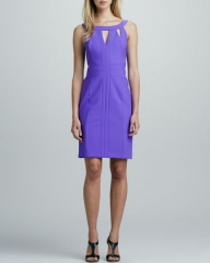 Cutout dress by Shelli Segal at Neiman Marcus