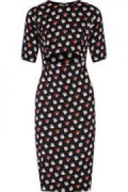 Cutout silk-blend midi dress at The Outnet