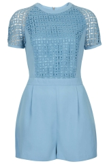 Cutwork Playsuit at Topshop