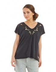 Cutwork tee by Free People at Lord & Taylor