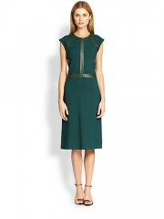 Cynthia Rowley - Leather-Detail Dress at Saks Fifth Avenue