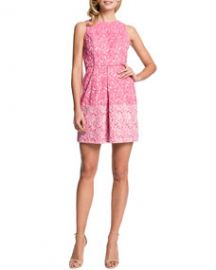 Cynthia Steffe Aniston Printed Inverted-Pleat Dress at Neiman Marcus