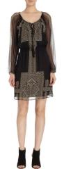 Cynthia Vincent Egyptian print dress at Barneys