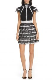 Cyra Ruffle Lace Minidress at Nordstrom