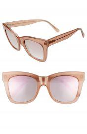 D  x27 Blanc Beach Vida 53mm Square Cat Eye Sunglasses   Nordstrom at Nordstrom
