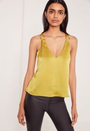 D Ring Detail  Satin Cami at Missguided