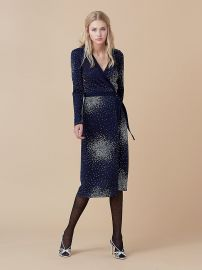 D Ring Wrap Dress by Diane von Furstenberg at DvF