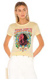 DAYDREAMER Janis Joplin 1969 Slim Tee in Buttercream from Revolve com at Revolve