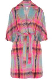 DELPOZO - Checked mohair-blend cape at Net A Porter