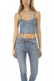 DENIM BUSTIER at Blue and Cream