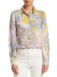 DEREK LAM 10 CROSBY - MAP PRINT BLOUSE at Saks Fifth Avenue
