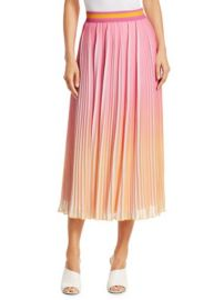 DEREK LAM 10 CROSBY - PLEATED OMBRe MIDI SKIRT at Saks Fifth Avenue