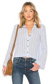DEREK LAM 10 CROSBY Button Down Shirt in Pale Blue from Revolve com at Revolve