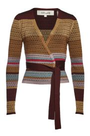 DIANE VON FURSTENBERG - WRAP PULLOVER WITH metallic thread at Stylebop