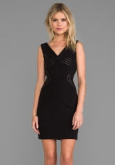 DIANE VON FURSTENBERG Glenda Dress in Black at Revolve