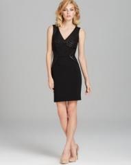 DIANE von FURSTENBERG Dress - Glenda Leather Detail at Bloomingdales
