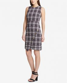 DKNY Asymmetrical Tweed Sheath Dress  Created for Macy s   Reviews - Dresses - Women - Macy s at Macys