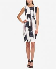 DKNY Brushstroke-Print Sheath Dress  Created for Macy s   Reviews - Dresses - Women - Macy s at Macys