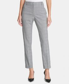 DKNY Essex Plaid Pants  Women -  Pants   Capris - Macy s at Macys