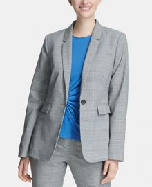 DKNY One-Button Blazer  Women -  Jackets   Blazers - Macy s at Macys