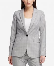 DKNY One-Button Plaid Classic Jacket  Created for Macy s Women -  Jackets   Blazers - Macy s at Macys