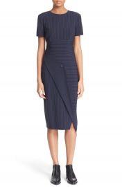 DKNY Pinstripe Asymmetrical Dress at Nordstrom