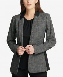 DKNY Plaid Blazer at Macys