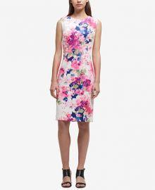 DKNY Printed Scuba Sheath Dress  Created for Macy s   Reviews - Dresses - Women - Macy s at Macys