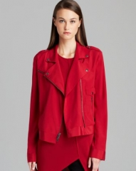DKNY Silk Moto Jacket with Zip Details at Bloomingdales