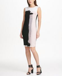 DKNY Sleeveless Printed Sheath Dress  Created for Macy s   Reviews - Dresses - Women - Macy s at Macys