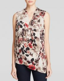 DKNYC Asymmetric Floral Print Top at Bloomingdales
