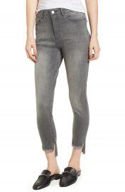 DL1961 Chrissy Trimtone High Waist Step Hem Skinny Jeans  Ashen at Nordstrom