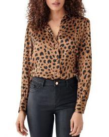 DL1961 x Marianna Hewitt Chambers St  Animal Print Silk Shirt Women - Bloomingdale s at Bloomingdales