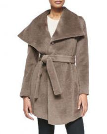 DL2 by Dawn Levy Hannah Belted Alpaca Coat Brown at Neiman Marcus