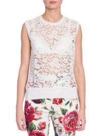 DOLCE GABBANA - SLEEVELESS LACE TOP at Saks Fifth Avenue