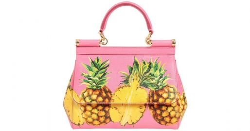 DOLCE GABBANA PINEAPPLE PRINT SICILY SHOULDER BAG at Farfetch