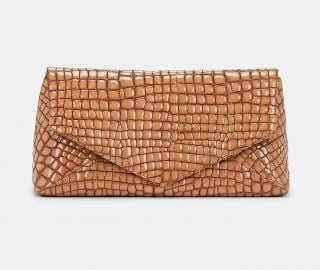DRIES VAN NOTEN CROCODILE-STAMPED LARGE PATEN at Barneys