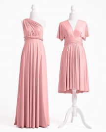 DUSTY ROSE MULTIWAY INFINITY DRESS at Infinity Dress