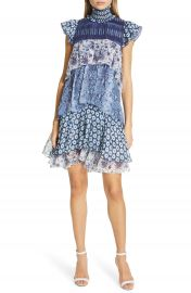 DVF Matilda Pattern Mix Tiered Ruffle Silk Dress   Nordstrom at Nordstrom