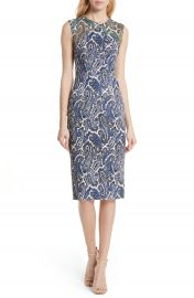 DVF Mixed Paisley Sheath Dress at Nordstrom