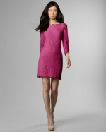 DVF pink lace dress worn by Rachel Berry at Neiman Marcus