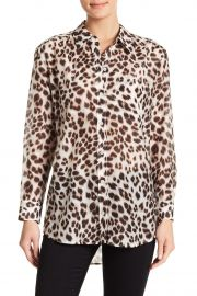 Daddy Cheetah Print Blouse by Equipment at Nordstrom Rack