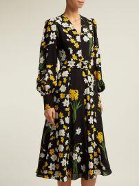 Daffodil-print silk midi dress Andrew Gn at Matches