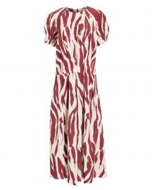 Dahlia Zebra Print Midi Dress at Intermix