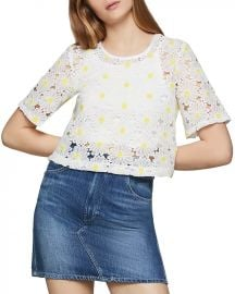 Daisy Lace Cropped Top at Bloomingdales