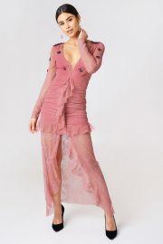 Daisy Lace Midi Dress by For Love  Lemons at NA-KD
