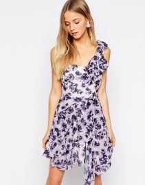 Daisy Street  Daisy Street One Shoulder Dress in Floral Print at Asos