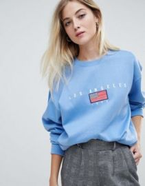 Daisy Street relaxed sweatshirt with vintage los angeles embroidery   ASOS at Asos